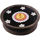 Bombay Haat Handcrafted Tealight Candle Holder / Floating Diya / Diwali Diya With 5 Preety Flowers For Home Décor And Diwali Gifting ( White )