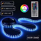 Simfonio Tiras Led RGB 5Metro 300 Leds 5050 SMD Tiras de LED Kit Completo