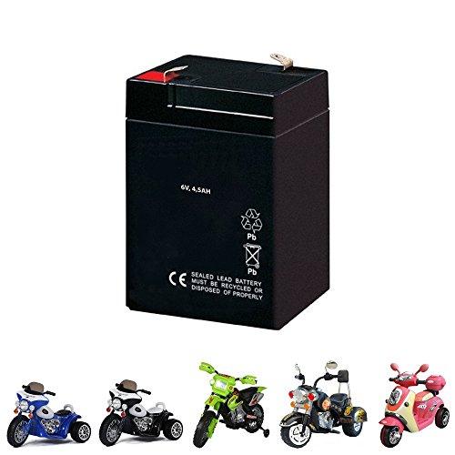 Preisvergleich Produktbild Ersatzakku für Kindermotorrad, Kinder Elektromotorrad, Elektroroller, Motorrad, Ersatzteil, 6V, 4500mAh, Neu