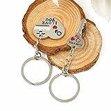 Morza Coppie romantiche Portachiavi Cuore dolci amanti portachiavi per regalo di giorno di chiave del cuore Set di San Valentino
