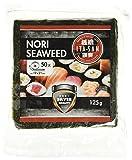 Produkt-Bild: ITA-SAN Seetang, geröstet, für Sushi, ganzes 50 Blatt, nori silber, 1er Pack (1 x 125 g)