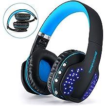 Juego de Auriculares Bluetooth,Beexcellent Glow Auriculares Bluetooth con Micrófono para PS4 / Xbox One / Laptop / Celular