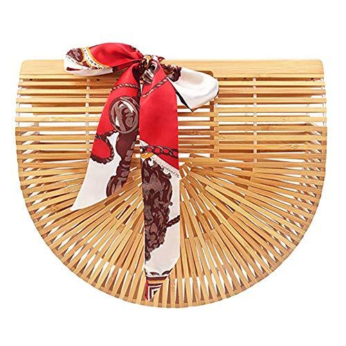 Yeeper Bolso de Bambú Hecho a Mano para Mujer Tañano-Large