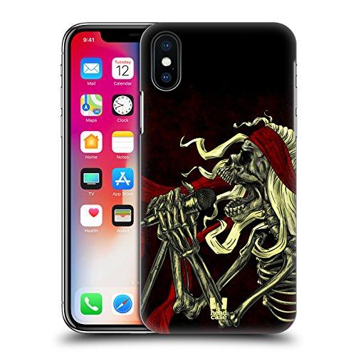 Head Case Designs Tom Skull Of Rock Cover Retro Rigida per Apple iPhone X Ruggito