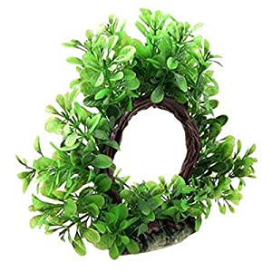 Curve Artificial Plastic Water Plant Decor For Fish Tank Ornament Circular Flexible Underwater