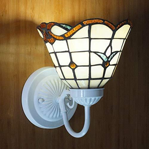 Tiffany-Art-Dekorations-Wand-Lichter, europäische Retro Buntglas-Wand-Lampe, Wohnzimmer-Schlafzimmer-Nachtwand-Leuchter - Tiffany Wand Lampe