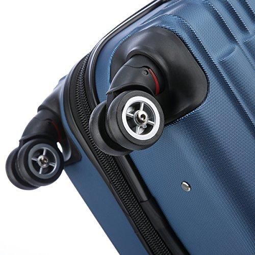 BEIBYE Zwillingsrollen 2088 Reisekoffer Koffer Trolleys Hartschale in XL-L-M in 14 Farben (Blau, Set) - 9