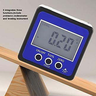 Transportador Digital, Inclinómetro Digital, Instrumento de Nivelación Digital, 4 * 90 Grados, Base Magnética, Pantalla LCD, Alta Precion, Medidor de ángulo Digital