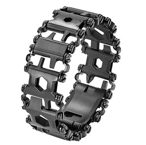 DZW Bracelet Extérieur De Secours, Outil Détachable D'urgence De Survie De Bracelets De L'acier Inoxydable 29-In-1