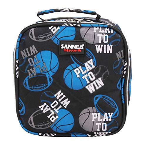 KonJin Klein Leicht Lunch Tasche Isoliertasche zur Arbeit Schule Faltbar Wasserdicht Reißverschluss Mehrfarbig,5L
