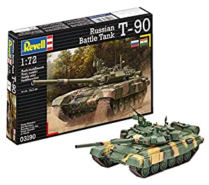 Revell- Maqueta Russian Battle Tank T-90, Kit Modelo, Escala 1:72 (03190)