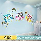 HKJNDS Décoration Murale Classe Cartoon Culture De Classe Maternelle Et Créative Des Cours De Rattrapage Scolaire Organisé Autocollant Mural De Stickers Muraux, 02 Peinture...