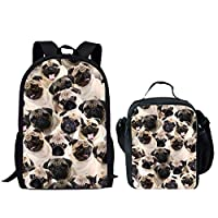 HUGS IDEA Cute Dog Printing Children Bookbag Animal Kids Backpack Back to School