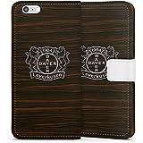 Apple iPhone 6s Tasche Leder Flip Case Hülle Bayer 04 Leverkusen Fanartikel Holz Look