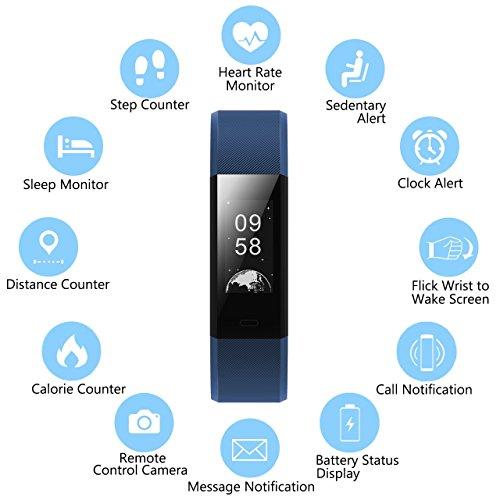 Fitness-Tracker-Muzili-YG3-Plus-Activity-Tracker-Sport-orologio-Smart-Fitness-Braccialetto-Pedometro-con-monitoraggio-di-frequenza-cardiaca-GPS-Step-Counter-Sleep-Monitor-di-per-Android-e-IOS