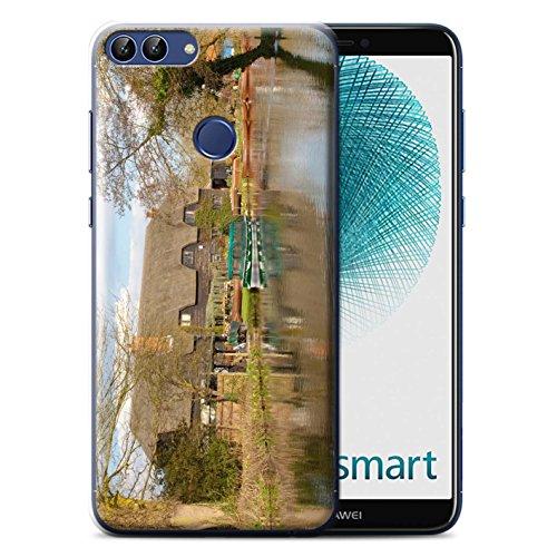 Stuff4® Hülle/Case für Huawei P Smart/Hütte Muster/Britischen Küste Kollektion