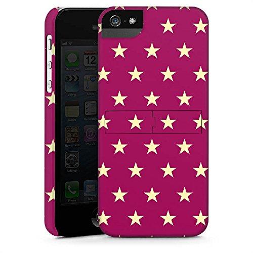 Apple iPhone 5s Housse Étui Protection Coque Étoiles Petite étoile Polka CasStandup blanc
