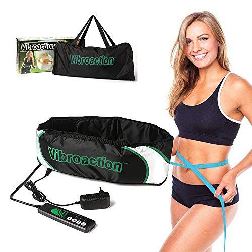 CHENGL Multifunktionales Massagegerät, Vibrations Schlankheits Massagegürtel Elektrische Taillenmassage Massage und Vibrationswirkung, für Hüft, Rücken und Bauchbereich sowie am Gesäß
