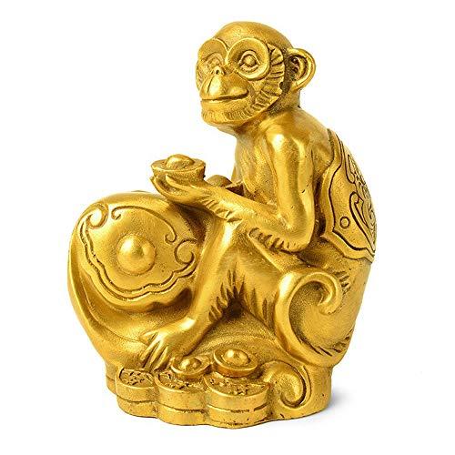 Kostüm Kreative Affe - DDCYY Statue Aus Reinem Affen Kupfer, Hausskulptur, Kunsthandwerk, Schreibtischsammlung, WeinküHler, Wohnzimmer, BüRo (10 X 7 X 12,5 cm)