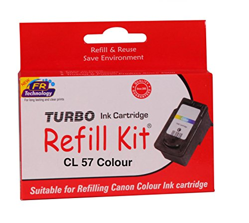 Turbo ink Refill Kit for Canon CL 57 Colour Ink Cartridge  available at amazon for Rs.483