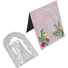 zmigrapddn Troqueles,Patrón de la puerta de la flor del recién casado Troqueles de corte