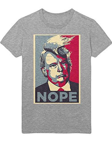 Kostüm Big Mac - T-Shirt Donald Trump Nope D123456 Grau L