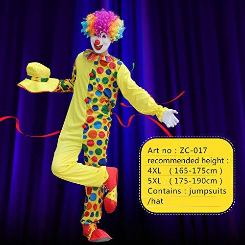 NiQiShangMao Halloween Kostüme Erwachsene Lustige Zirkus Clown Kostüm Frech Harlekin Uniform Kostüm Cosplay Kleidung für Männer - Freche Kostüm Für Erwachsene