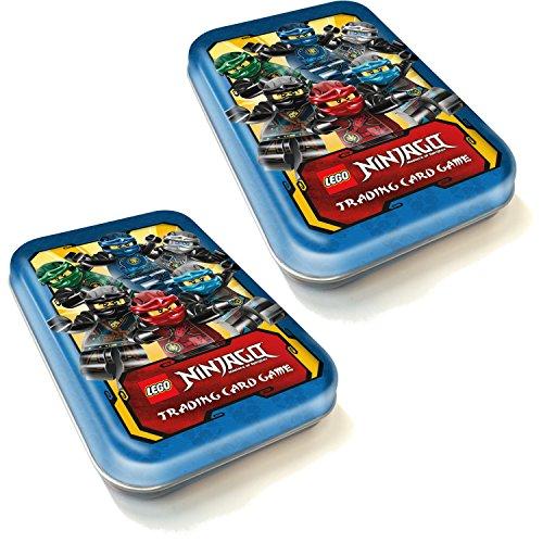 Karten Box, Mini Tin, Dosen für Trading Cards in Blau (Blaue Lego Ninjago)