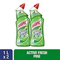 ‏‪Harpic Toilet Cleaner Liquid Active Fresh Pine 1L Twin Pack‬‏