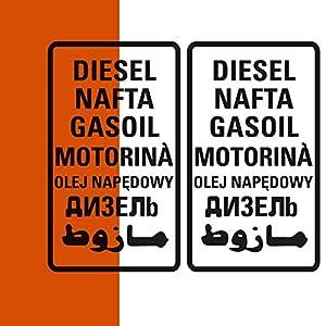 Diesel Aufkleber 2er Set, große oder kleine Version, Sticker für Camper Bus Offroad 4x4 Wohnmobil Boot oder Geländewagen