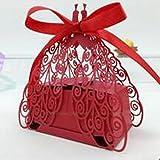 100Pcs Wedding Favorite Candy Box Bride & Groom Dress Tuxedo Party Favor-pack de 100 (C)