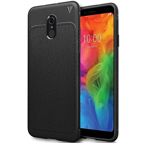 iBetter LG Q7 Hülle, Ultra Thin Tasche Cover TPU Silikon Handyhülle Stoßfest Case Schutzhülle Shock Absorption Backcover Hüllen für LG Q7 Smartphone (Schwarz)
