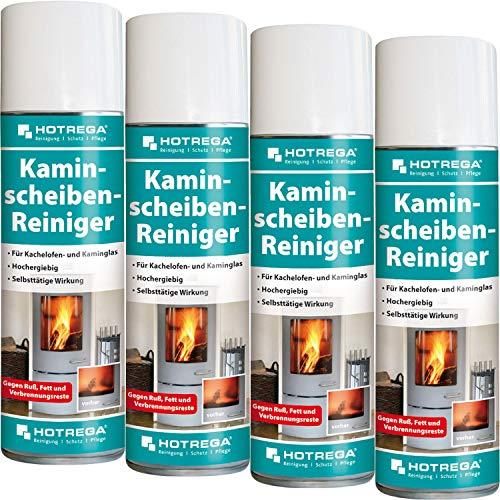 4 x HOTREGA Kaminscheiben-Reiniger 300ml Spraydose