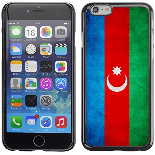 Graphic4You Vintage Uralt Flagge Von Albanien Albanisch Design Harte Hülle Case Tasche Schutzhülle für Apple iPhone 6 Plus / 6S Plus Republik Aserbaidschan Aserbaidschaner