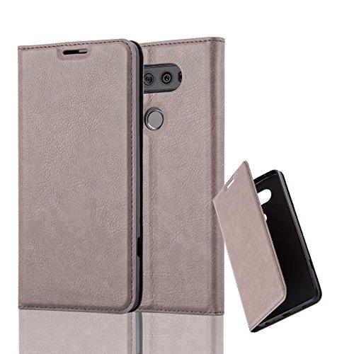 Cadorabo Hülle für LG V20 - Hülle in Kaffee BRAUN – Handyhülle mit Magnetverschluss, Standfunktion und Kartenfach - Case Cover Schutzhülle Etui Tasche Book Klapp Style