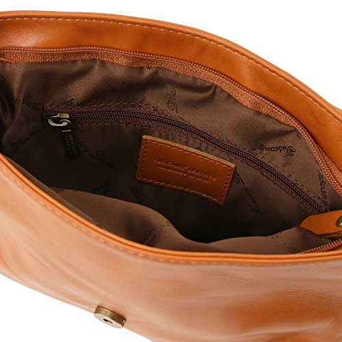 Tuscany Leather TL Bag Borsa morbida a tracolla con nappa Cognac Cognac