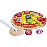 Eichhorn 100003730 - Pizza zum Belegen - 17 teilig, 19x19x4cm, inkl. Belag und Schneideroller, Kiefernholz