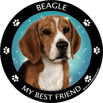 Beagle Best Friend Auto, Kühlschrank Magnet -
