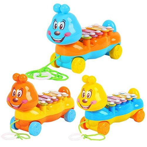 Ndier Musical Xylophone EIN Ziehen Spielzeug für Kinder & Kleinkinder 1pc