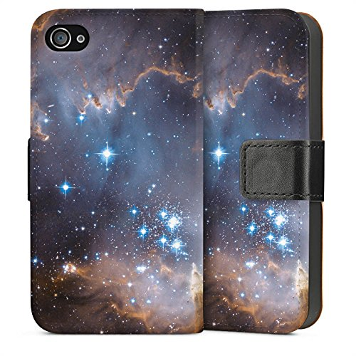 Apple iPhone 5s Housse Étui Protection Coque Étoiles Galaxie Galaxie Sideflip Sac