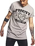MERCHCODE Herren Popeye Barber Shop Tee T-Shirt Heather Grey XL