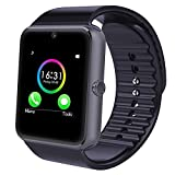 MallTEK Bluetooth Smartwatch 1.54'' inches Smart Watch Multi-Languages with Camera and Supports Sim & TF Card Smart Watch Band Bracelet Compatible for Android Mobile Phone (Black)