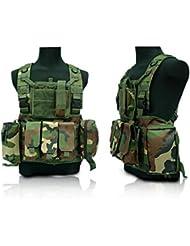 Veste tactique multipoches Field Gilet CS uniforme spécial Combat Holster Étui de protection extérieur Gilet Camo