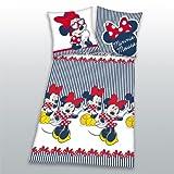 Herding 447726050412 Bettwäsche Minnie Mouse, Kopfkissenbezug: 80 x 80 cm + Bettbezug: 135 x 200 cm, 100 % Baumwolle, Renforce