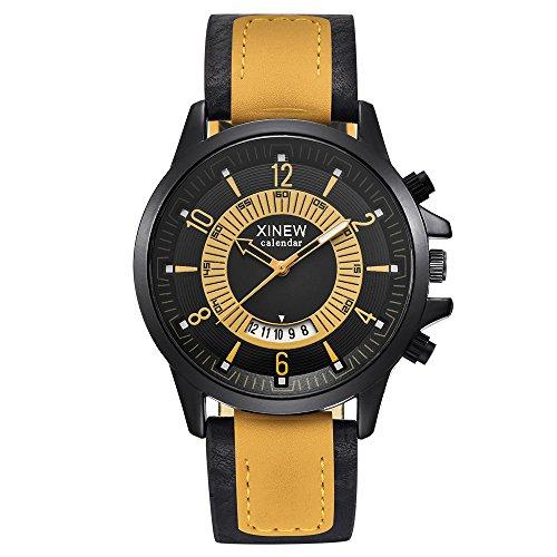 IG-Invictus Vintage Quarzuhr Männer Uhren Top-Marke Luxus Männliche Uhr Business Herren Armbanduhr XINEW Männer Gürtel Kalender Quarzuhr 2229