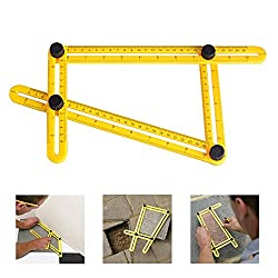 Angleizer Template Tool, Austor Multi Angle Measurement Tool Angle Rulers For Handymen, Builders, Craftsmen, Hanging Tile,laying Floors,cutting Stone, Yellow