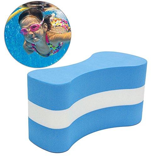 Pull Buoy - Schaumstoff-Zug-Schwimmbrett - Schwimmbrett Training Bein-Platte, Schwimmschutz - Schwimmbad Sicherheit Training Hilfe für Erwachsene Senioren Kinder Free Size blau