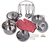 Checklife-900992-Kinderkochgeschirr-Geschirr-Kochtpfe-Topf-Kochgeschirr
