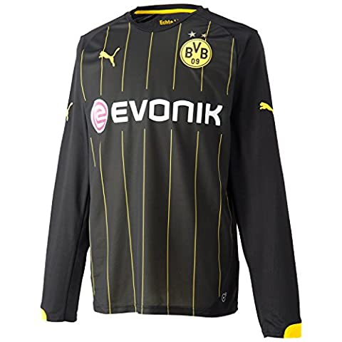 PUMA maillot bVB away t-shirt à manches longues SMALL Noir - Black-Cyber Yellow