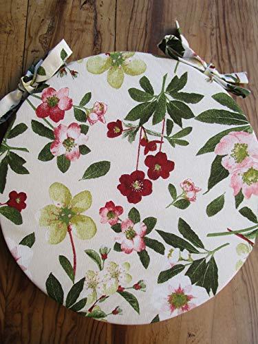 Pago poco novita !!! cuscino, coprisedia rotondo mis. diametro 40cm,sfoderabile con la cerniera. floreale made in italy!!!